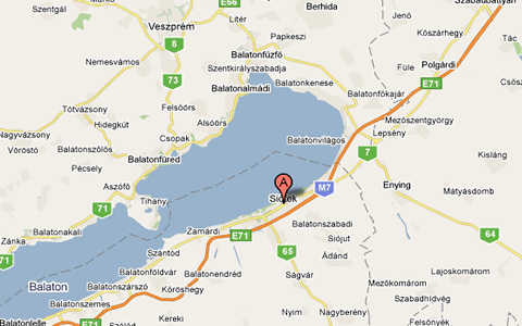 Siofok City Map Varosterkep Szarvas Andras Private Entrepreneur